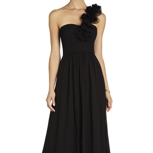 BCBG MAXAZRIA Patricia One-Shoulder black 6 #349 Dresses & Skirts - BCBG MAXAZRIA Patricia One-Shoulder black 6 #349